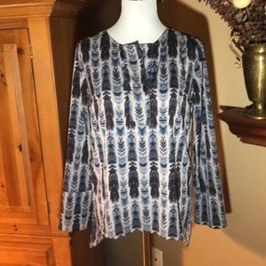 BCBG blue and grey printed tunic!